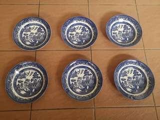 English vintage bowls - set of 6 #50TXT