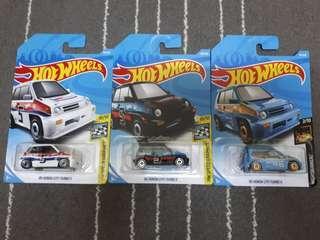 Hotwheels - Honda City Turbo lots of 3