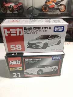 🚚 Honda NSX & Civic type R