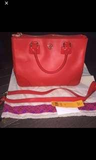 Tory Burch  Robinson double zip bag