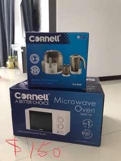BN Cornell juice extractor and Microwave