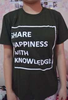 Tumblrtee Share Happiness With Knowledge Top