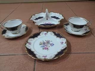 6 pc vintage tea set #50TXT
