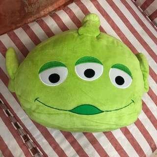 Disney 迪士尼 Toy Story 玩具總動員 反斗奇兵 Alien 三眼仔 暖手枕 Cushion