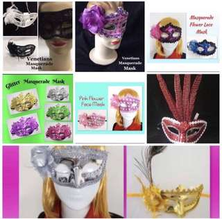 407829901bb   CATZ   Venetians Masquerade Mask Face Mask Party Face Mask Masquerade  Flower Face Mask