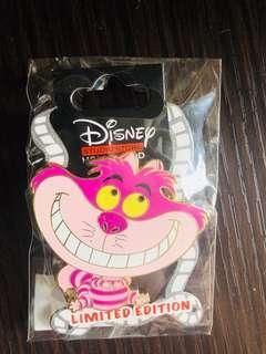 Disney Studio Store Hollywood pins 迪士尼徽章襟章 Big Head Kitties Series- Cheshire Cat 妙妙貓LE300 disney pin