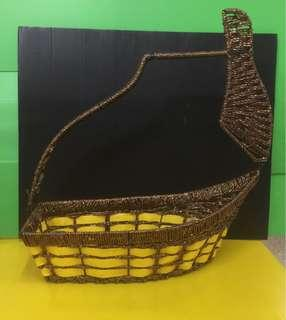 Elegant Ship Hamper Basket