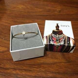 🚚 Lucy's-簡約單鑽開口手環