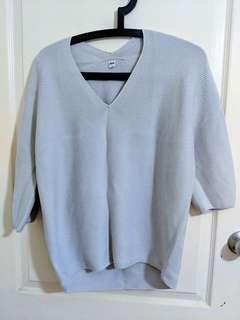 Uniqlo Grey Knit Top