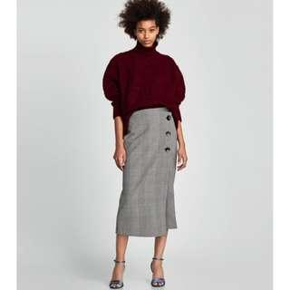 BRAND NEW Check Wrap Skirt Size S