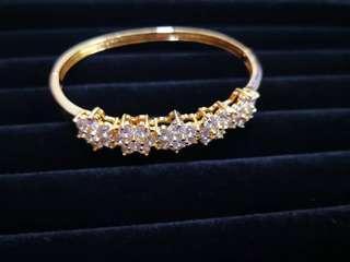 Gold plated bronze bracelet
