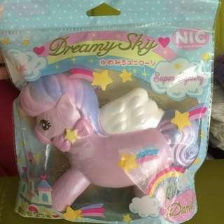 🚚 Pony Rainbow Pink Squishy
