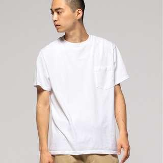 Beams Goodwear 白色短袖Tee (made in USA)