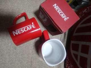 NESCAFE 紅色 瓷咖啡杯 (250ml x2)  $40/2個