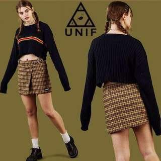 🚚 AUTHENTIC UNIF yellow plaid frances skirt