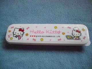 Hello Kitty Spoon, fork and chopsticks set
