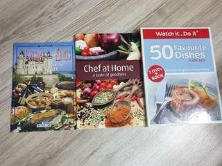 Set of recipe books