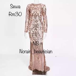 ( RENT RM30 ) Sequin Gold Dress