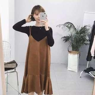 [new] brown outer dress