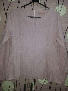 blouse strip pink