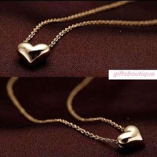 URGENT SALE -$6 MAILED ONLY  KOREA PREMIUM LOVE HEART NECKLACE CLEARANCE FLEA