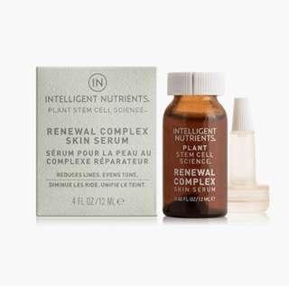 【美國直送】Intelligent Nutrients – Plant Stem Cell Renewal Complex Skin Serum 有機幹細胞肌底修護精華 (12ml)