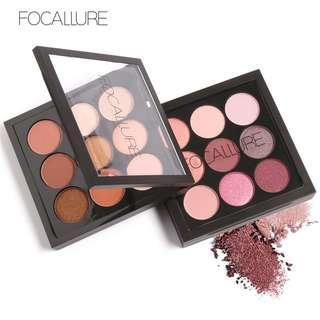FOCALLURE Earth Tone/Shimmer/Matte Eyeshadow Palette - 9 Colours