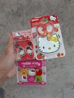 Hello Kitty Erasers & Scissors Set
