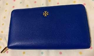 🚚 Tory Burch Leather Zip Continental Wallet
