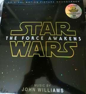 Mint sealed the force awakens record vinyl soundtrack etch hologram sealed