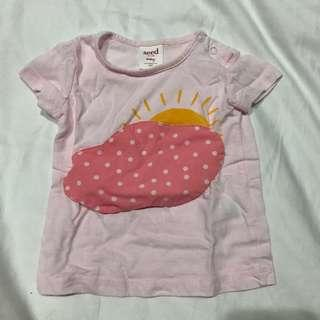 🚚 Seed Heritage Pink Cloud Baby T-shirt Top