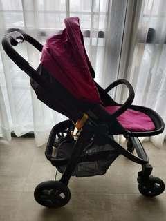 Graco Evo Stroller + Infant Carrier Adapter + Infant Carrier + 2 Car Bases