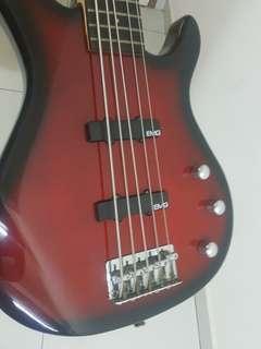 Bass Guitar 5 String - Squier MB5 Jazz Bass