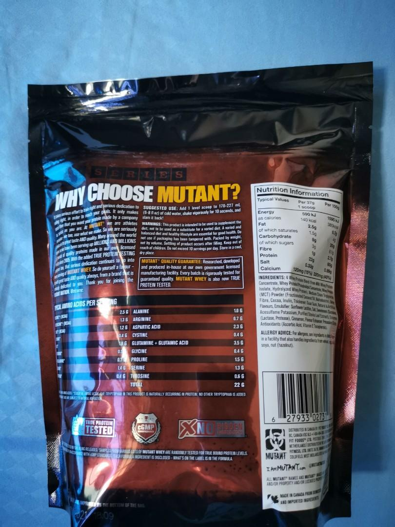 2 lbs mutant whey protein (not opened) EXP: 10/2021, Food
