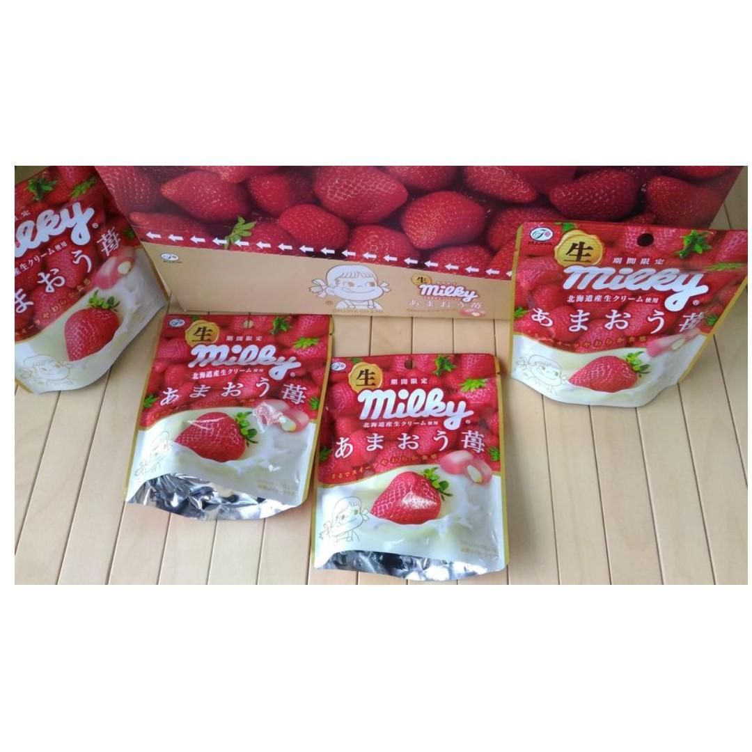 【冬季限定款】日本 不二家 生乳草莓牛奶糖  草莓牛奶糖 34g 【每顆牛奶糖都是獨立包裝】