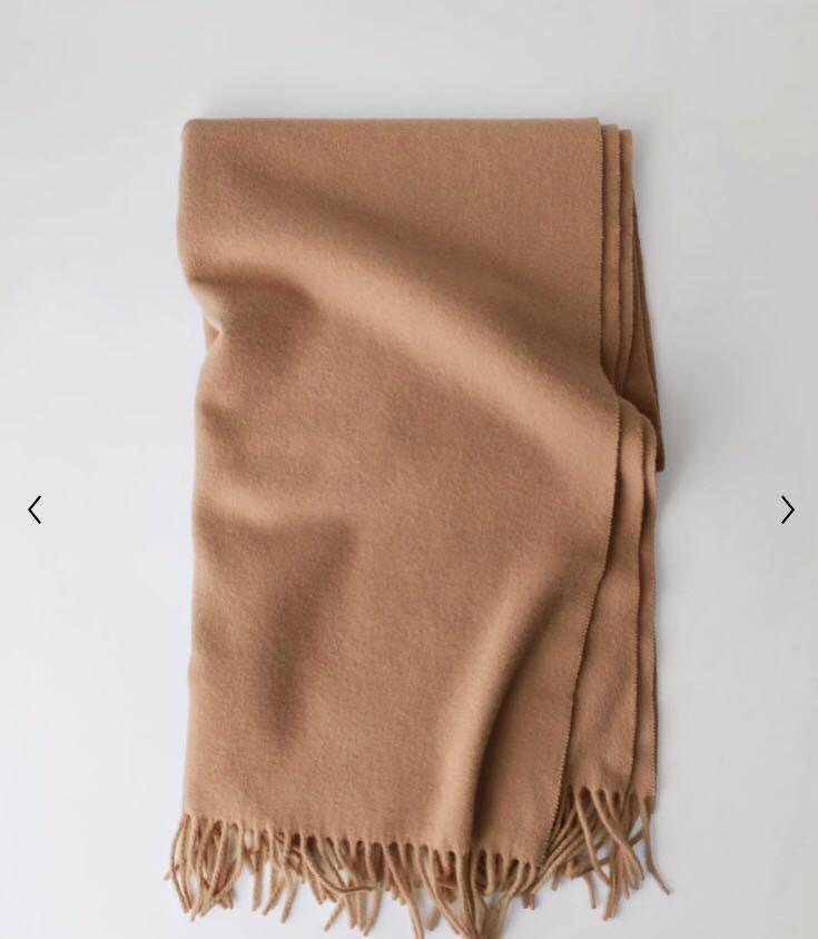 (意者自行出價)Acne studios駝色圍巾