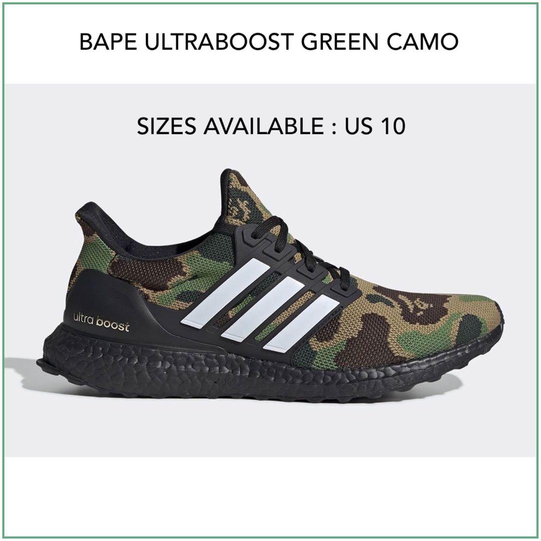 new styles 602ed 953dc Adidas BAPE Ultra Boost US 10, Men s Fashion, Footwear, Sneakers on ...