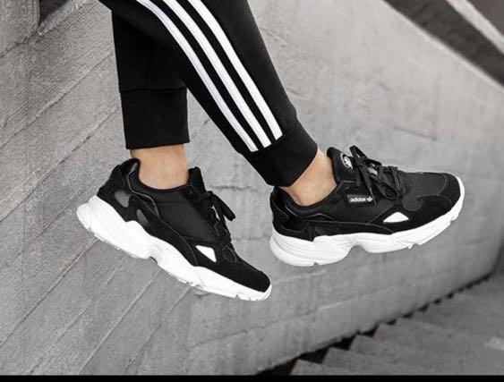 adidas falcon black, Women's Fashion