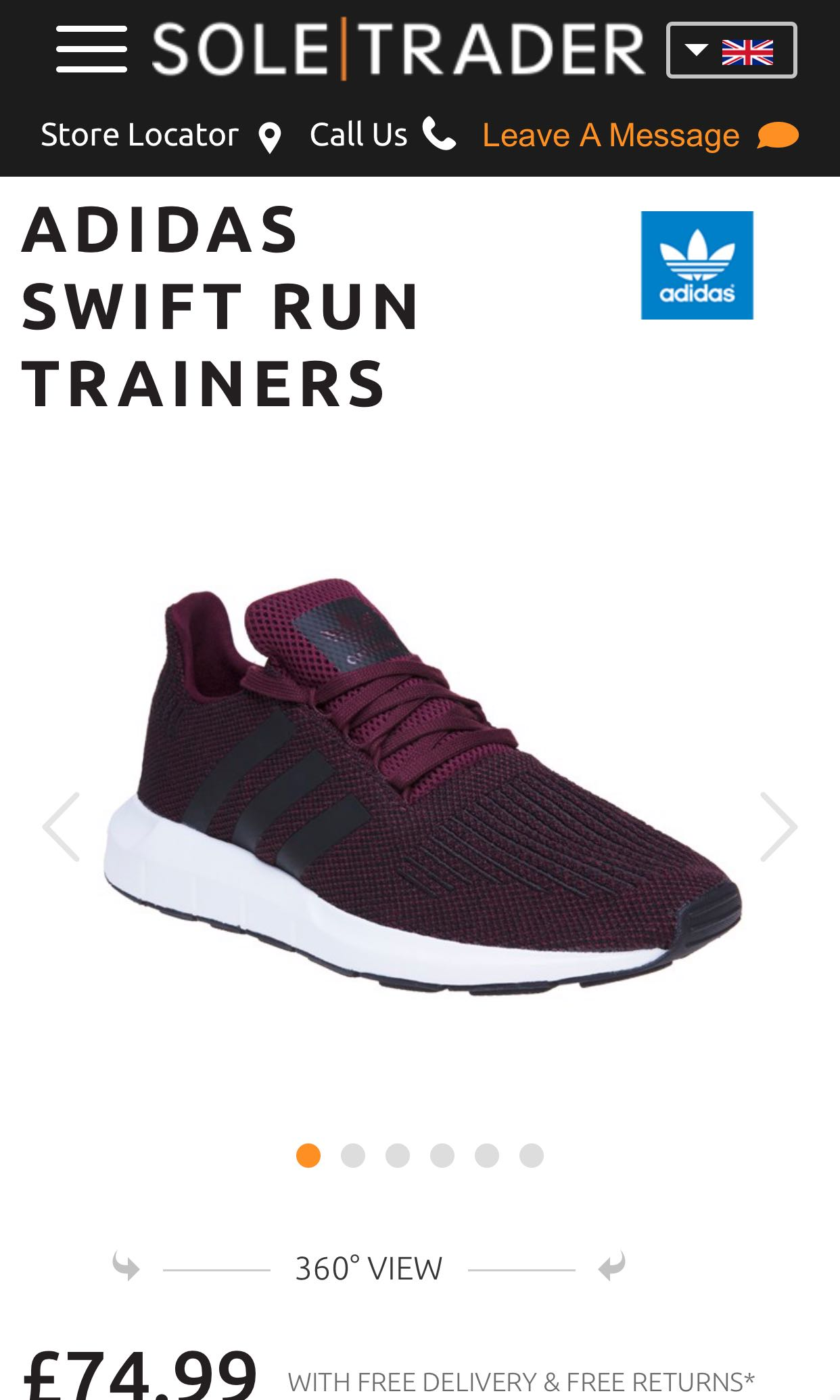 116e8c5f952d1 Adidas Swift Run Trainers