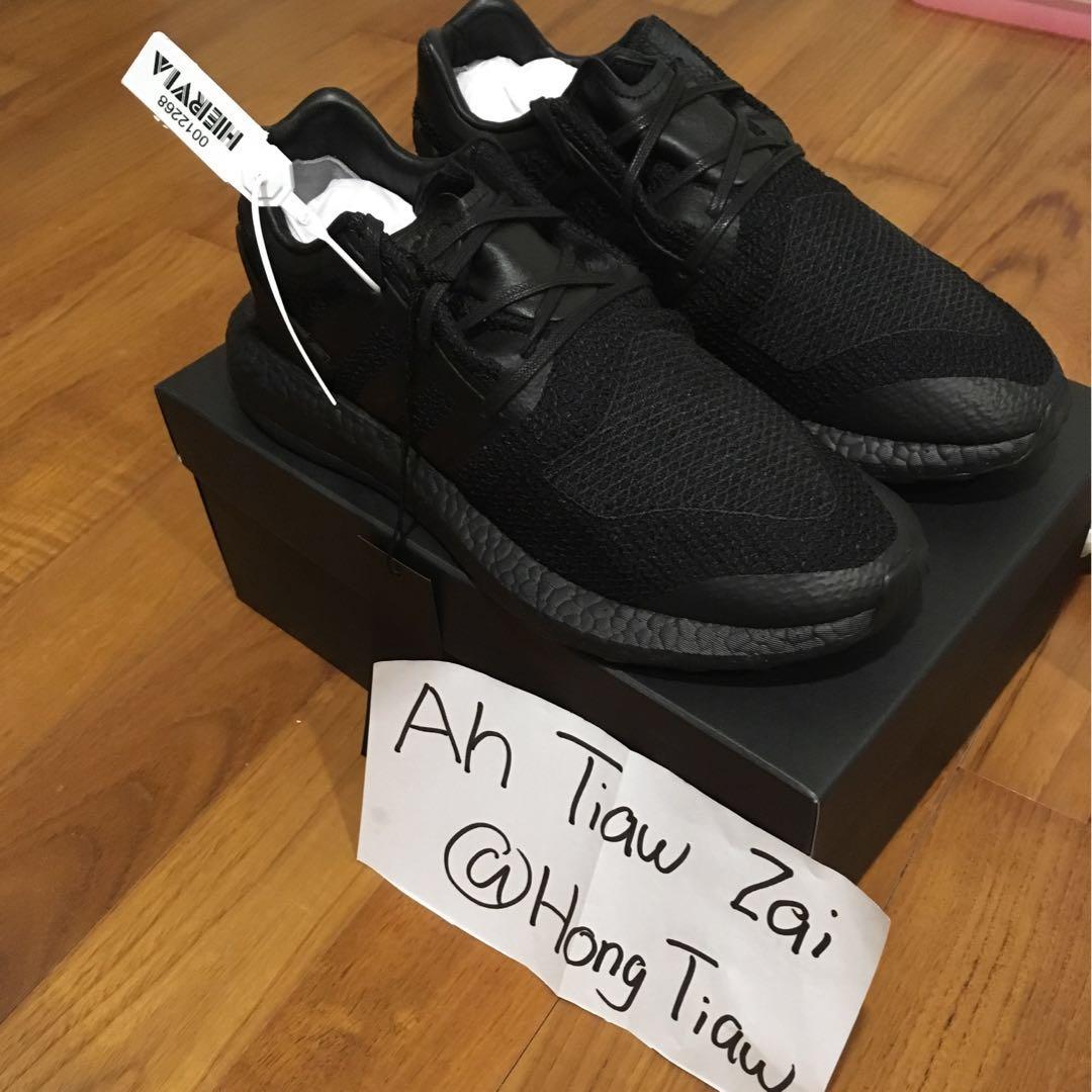 5dc6bfb3b11a4 Adidas Y3 Pure Boost Triple Black UK10