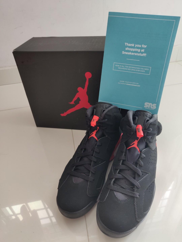 9b423b88a5ff Air jordan 6 retro black infrared 2019