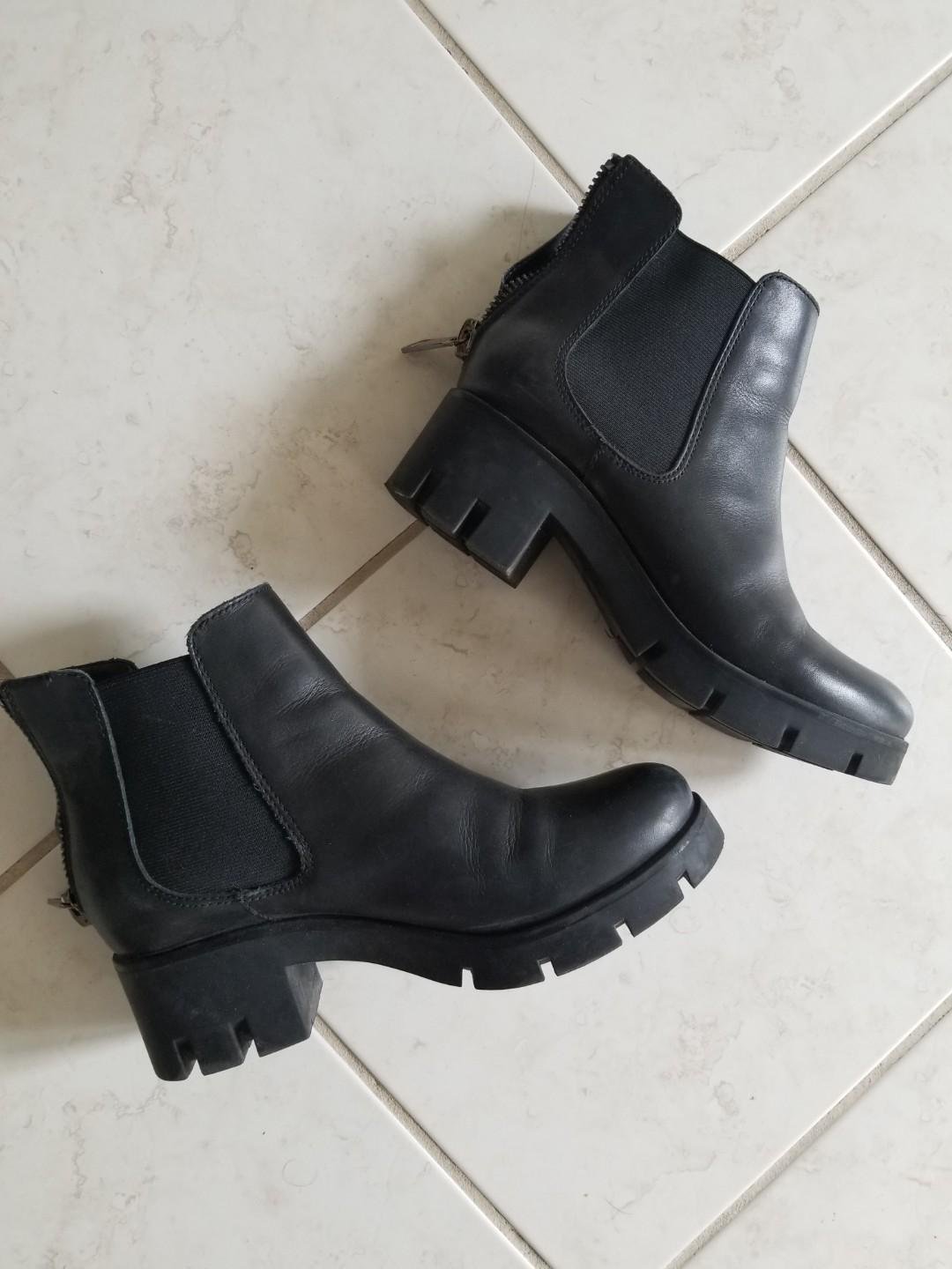 Aldo chunky ankle boots