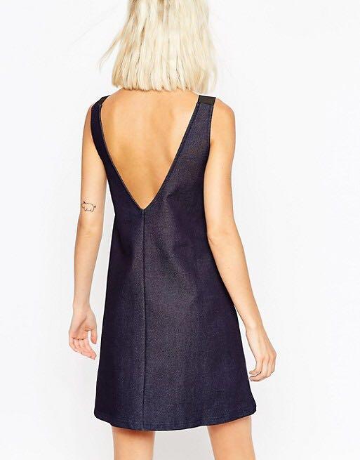 900bfecd190 ASOS V back Denim Dress