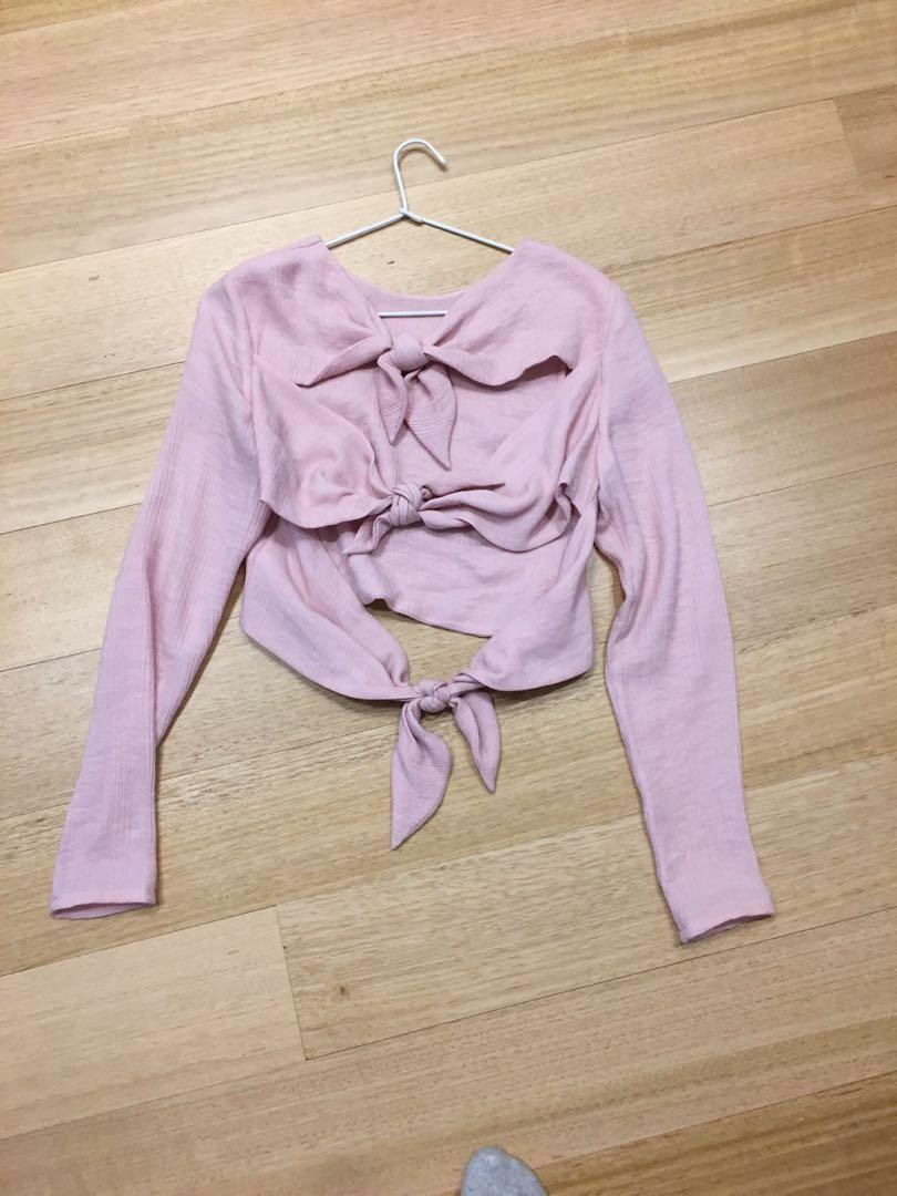Atoir long sleeved pink top evening