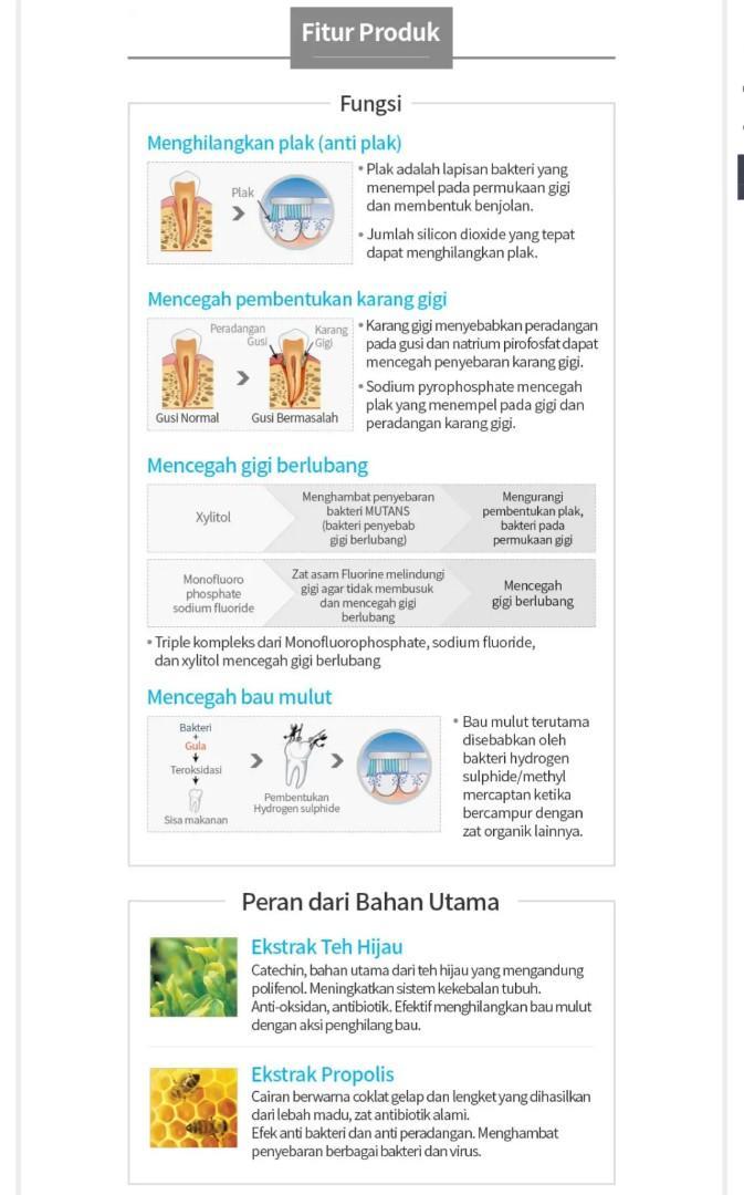 Atomy Pasta Gigi Herbal Sensitif Plak Bersih