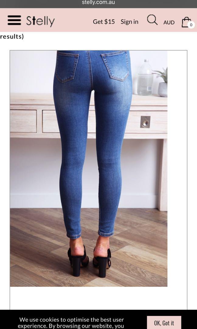 Aubrey skinny leg jeans - Denim blue - SHOP BY SIZES : 7