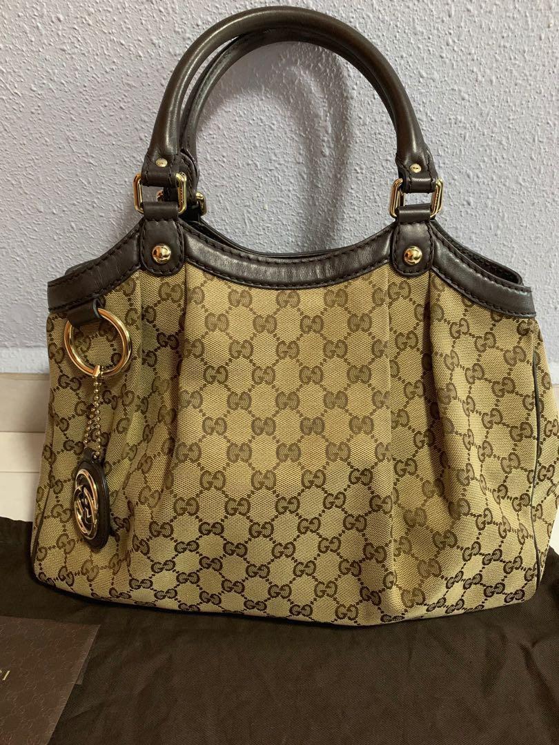 2790e884b3b Authentic Gucci Sukey cloth tote bag c  w dust bag