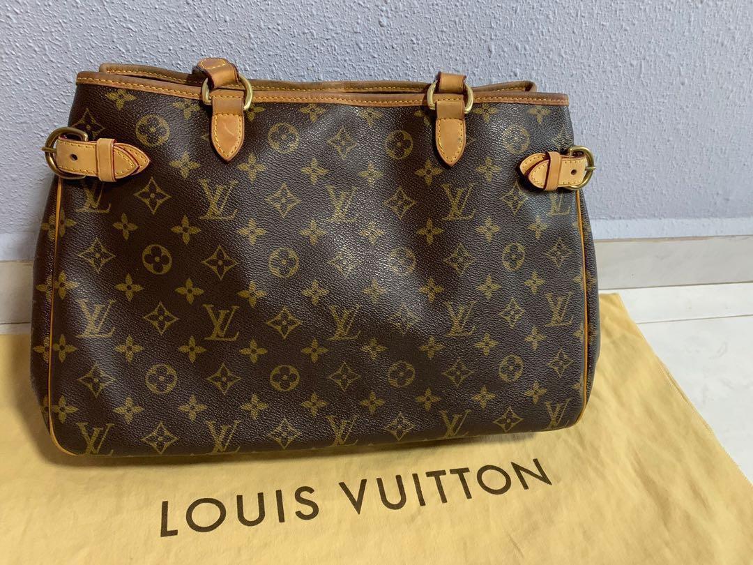 cba8f7d4e88 Authentic Louis Vuitton Batignolles monogram brown Leather Tote Bag ...