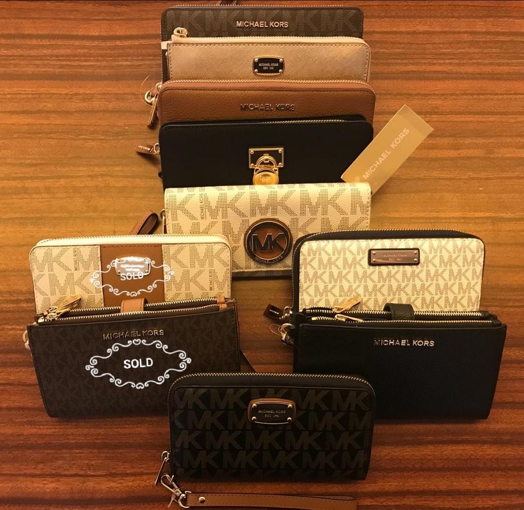 1a3107547692 Authentic Mk Wallet / Phone Case Wristlet, Women's Fashion, Bags ...
