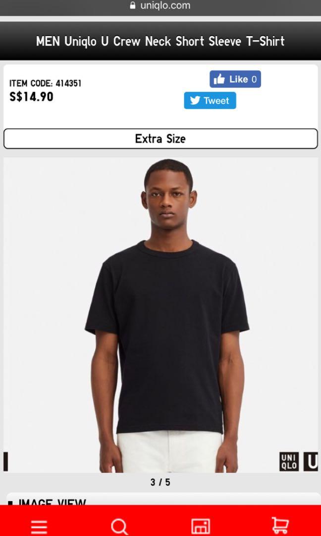 67e65c50a043 Beand New Uniqlo U Crew Neck Short Sleeve T-Shirt, Men's Fashion ...